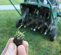 Lawn Aeration Service by A Kut Above in Beavercreek, Ohio