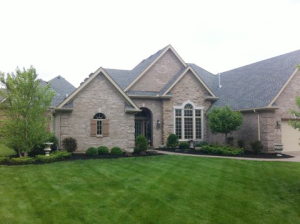 Local Lawn Care & Landscaping by A Kut Above in Beavercreek, Ohio is a stunning example of how mowing stripes give your home a professional touch.